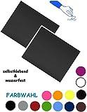 alles-meine.de GmbH 2 Stück _ Reparatur Aufkleber / Flicken - Nylon -  dunkel grau  - selbstklebend - wasserabweisend & wasserdicht - Sticker / Kleber - für Bekleidung Regenart..