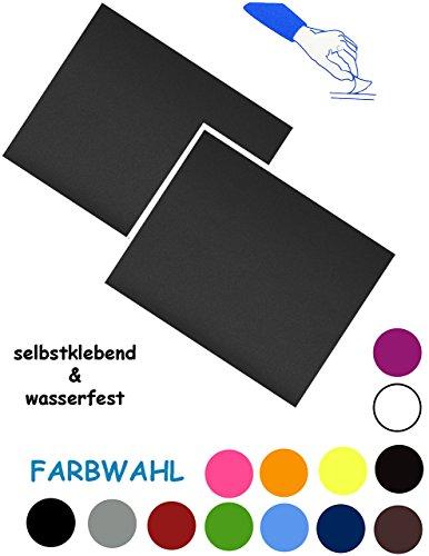 alles-meine.de GmbH 2 Stück _ Reparatur Aufkleber / Flicken - Nylon -  dunkel blau  - selbstklebend - wasserabweisend & wasserdicht - Sticker / Kleber - für Bekleidung Regenart..