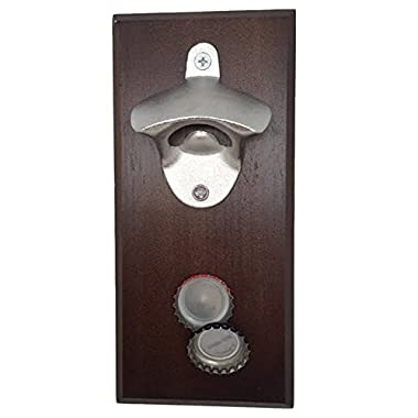 YaeKoo Magnetic Bottle Opener - Cap Catcher, Wall-Mounted, Refrigerator Magnet