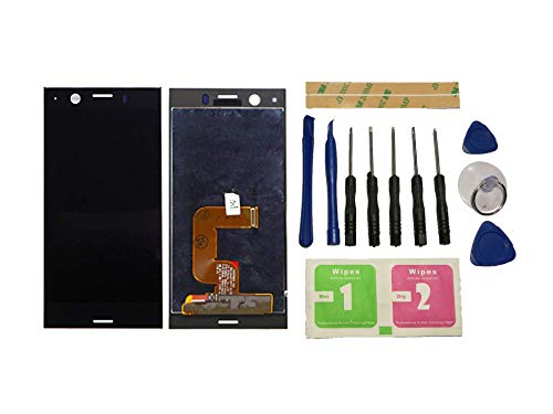 Flügel per Sony Xperia XZ1 Compact G8441 Schermo Display LCD Display Nero Touch Screen Digitizer (Senza Frame) di Ricambio e Strumenti Gratuiti