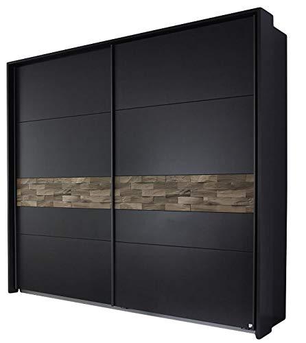 Schwebetürenschrank Milia grau/braun 2 Türen B 233 cm H 214 cm Jugendzimmer Schlafzimmer Schrank Kleiderschrank Schiebetürenschrank