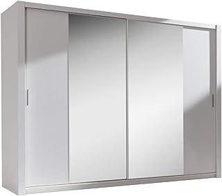 Selsey ORDU - Garde-Robe Portes coulissantes (Blanc/Miroir, 200 cm)
