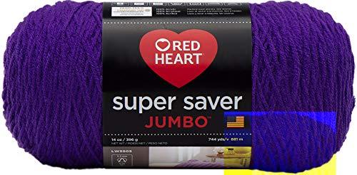 Red Heart Super Saver Jumbo Yarn, Amethyst