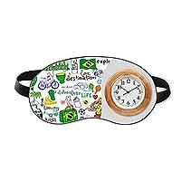 人生は冒険の旅ブラジルブラジル 睡眠時計旅行昼休み眼帯