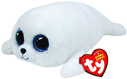 Ty - Icy, Peluche Foca, 15 cm, Color Blanco (36164TY)