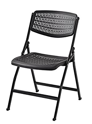 Muscle Rack FPMC-BLK Plastic Folding Chair (Pack of 4)