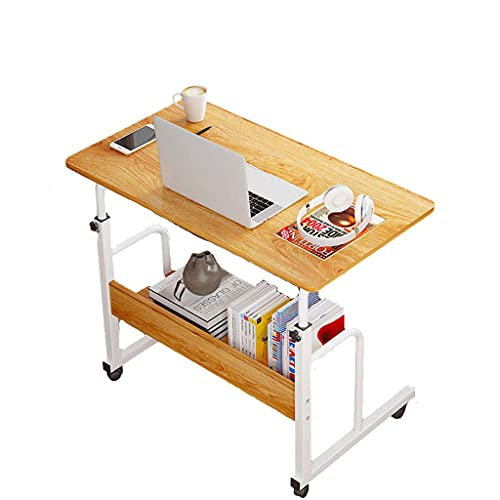 Mesa auxiliar móvil para ordenador portátil, carro, 80 x 40 cm, bandeja ajustable, sofá cama, portátil, con ruedas, para el hogar, oficina, bandeja de alimentos