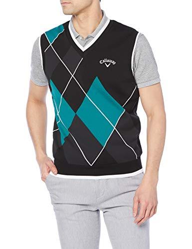 [キャロウェイ] [メンズ] セーターベスト (アーガイル・撥水セーター) / 241-1119502 / ゴルフ 010_ブラック 3L