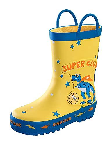 Meahyn Waterproof Rubber Toddler Rain Boot,Blue,12