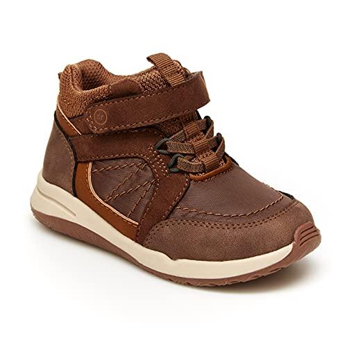 Stride Rite Boy's Maple Mid-Top Sneaker, Brown, 6 Toddler