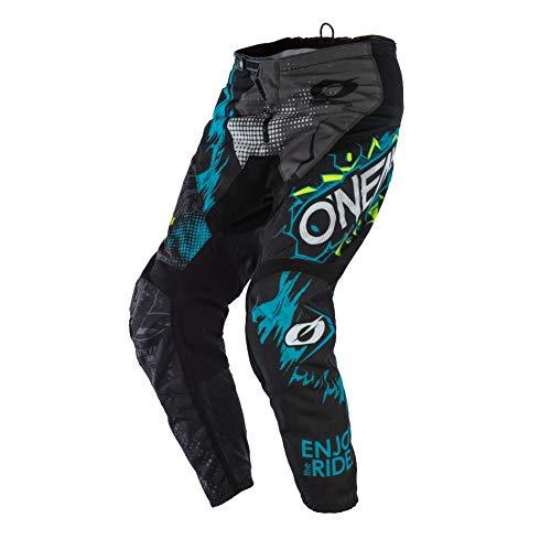 O'NEAL | Motocross-Hose | Enduro Motocross | außergewöhnliche Bewegungsfreiheit, Vollständig gefüttert, Schutzpolster aus Gummi für Extra Schutz | Pants Element Villain | Erwachsene | Weiß | Größe 40