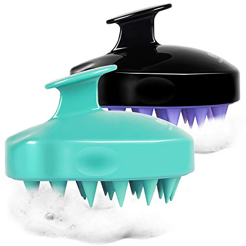 2-Pack Hair Scalp Massager Shampoo Brush, HEETA Upgraded Wet and Dry Hair Scalp Brush with Soft...