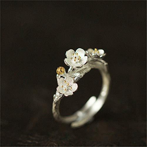Idiytip Women Knuckle Ring Elegant Cherry Adjustable Opening Ring Engagement Wedding Accessory Gifts