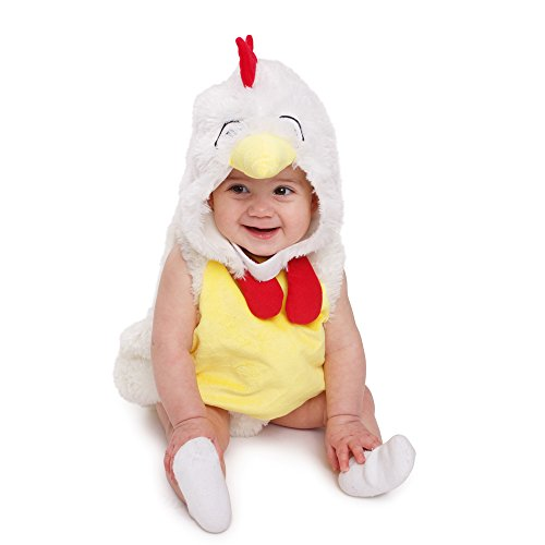 Dress Up America - Disfraz adorable de pollo gallo de peluche para bebé, talla 0-6 meses