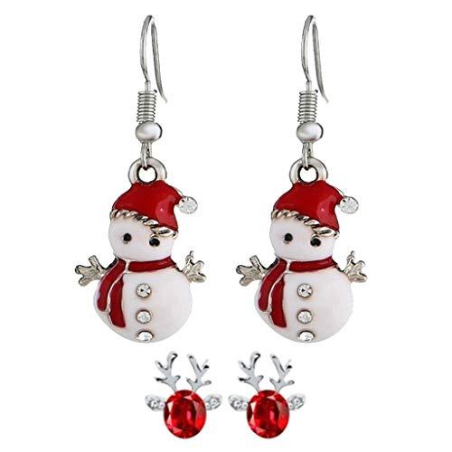 STYLEEA Frauen Weihnachtshaken-Tropfen baumeln Ohrring-Charme Eardrop Schmucksache-WeihnachtsPartei Anhänger Hoop Geschenke für Frauen