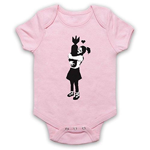 mijn icoon kunst & kleding banksy meisje knuffelen bom graffiti straat kunst baby groeien