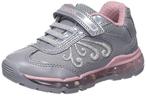 Geox Mädchen J Android Girl A Sneaker, Grau (Grey/Pink C0502), 30 EU