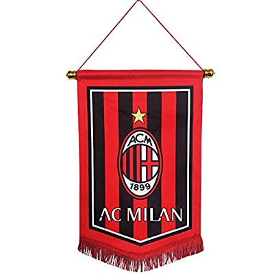 aiycome Football Club Indoor and Outdoor Flags Double Side Printing Flags Vivid Color Hanging Flags for Decoration/Souvenir/Gift(AC Milan)