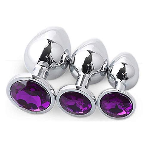 adult sex clothing 3 pezzi in acciaio inox con giocattoli di gioielli