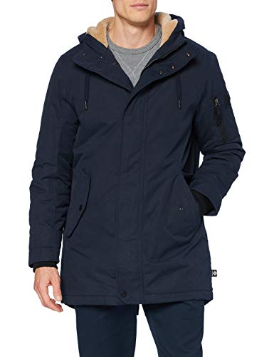 TOM TAILOR Denim Herren Basic Parka Anorak, 10668-Sky Captain Blue, XL