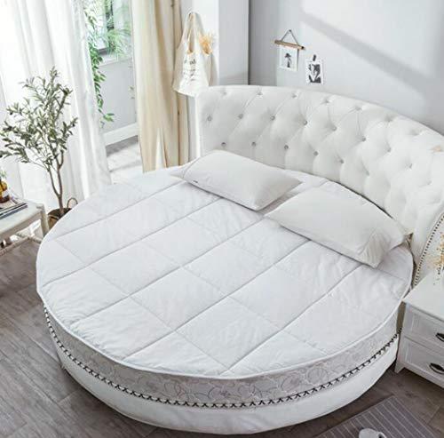 Protector colchón de cama redonda, super suave, protección contra la columna vertebral, dos de diseño de banda ancha elástico, cálido y antideslizante de 2 metros del hotel cama redonda / colchón de i