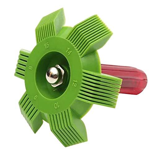 JFW Universal plástico aire acondicionado aleta reparación peine para auto sistema de refrigeración herramienta amarillo y rojo