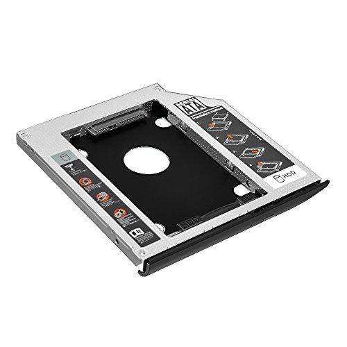 EHZ-Shop 2. HDD SSD Behälter Gehäuse für SATA Festplatte HP EliteBook 2530p 2540p mit passender Blende
