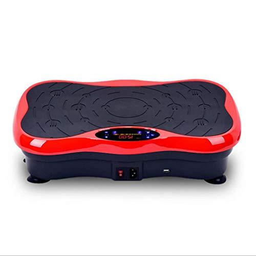 XBRMMM Placa Vibración Profesional 250W / 150W Tecnología Vibración Basculante 3D Gran Superficie, Motores Potentes + Diseño único + Bandas Entrenamiento + Control Remoto, Delgada