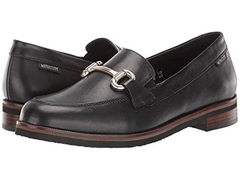 油絶望的なルーレディースローファー?靴 Roxana Black Citycalf (26.5cm) B - Medium [並行輸入品]