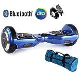Volver eléctrico Patinete Monociclo eléctrico Overboard, balance Scooter Monopatín con LED, dos ruedas 6.5 AZUL con certificación ul 2272