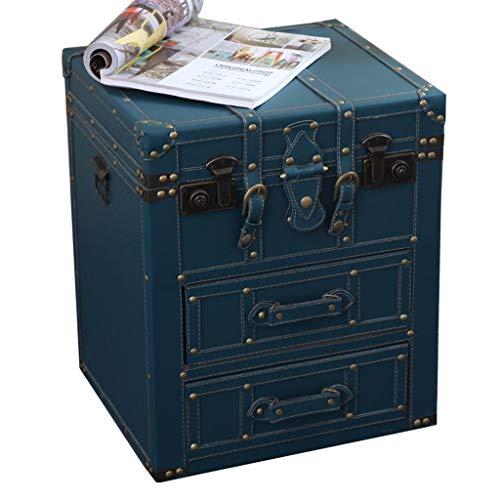 WY Retro Kommode mit 3 Schubladen, Industrial Style Sideboard Nachttisch Tisch Kommode Schlafzimmermöbel-8 Designs (Design : B)