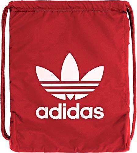 adidas Originals Unisex Trefoil Sackpack, Scarlet/White, ONE SIZE
