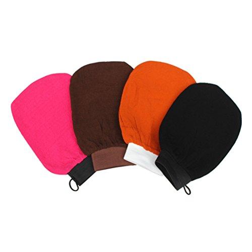 rosenice 4 Stücke Peelinghandschuh für Baden Sauna Körper Gesicht