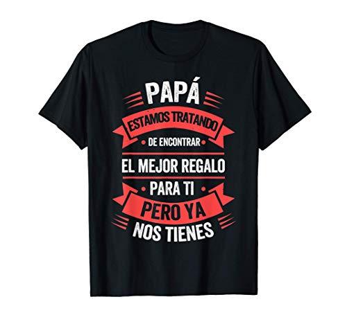 Dia Del Padre Camiseta Hombre Papá Hija Hijo Regalo Padre Camiseta
