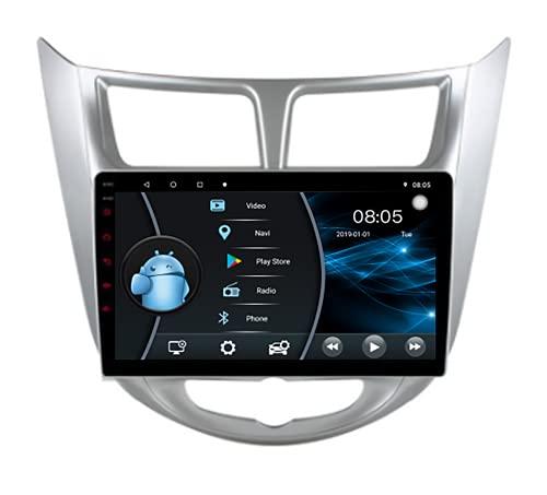 Android 10.1 Car Radio Stereo 9.0 Pulgadas Pantalla táctil de Alta definición Navegación GPS Bluetooth Reproductor USB para Hyundai Verna/Accent 2010 2011 2012 2013,6 Core WiFi 4G 2+32(1din)