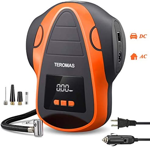 TEROMAS Tire Inflator Air Compressor Portable DC AC Air Pump for Car Tires 12V DC and Other product image