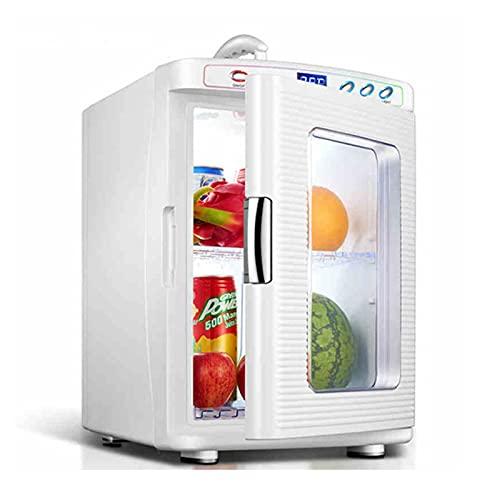 25L Mini Nevera Pequeña Portátil para Coche y Casa, Automóvil Escritorio Refrigerador con 0-65°C Enfriamiento y calentamiento, para Aslimentos, Bebidas, Dormitorios, Oficina, Coche