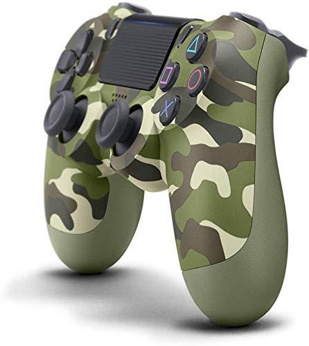 PS4 Controller Der Vie RTE Generation Ps4-Controller Drahtloser Bluetooth Spiel-Controller VerfüGt üBer Led-Beleuchtung Und Vibration Funktionenps4 Game Console-ZubehöR (Grüne Tarnung)