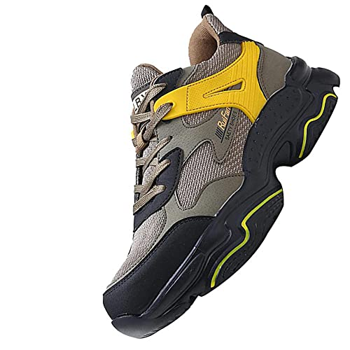 Anti-Piercing Antideslizante Ligero Transpirable Zapatos,Punta de Acero Zapatos Ligero Zapatos de Trabajo...