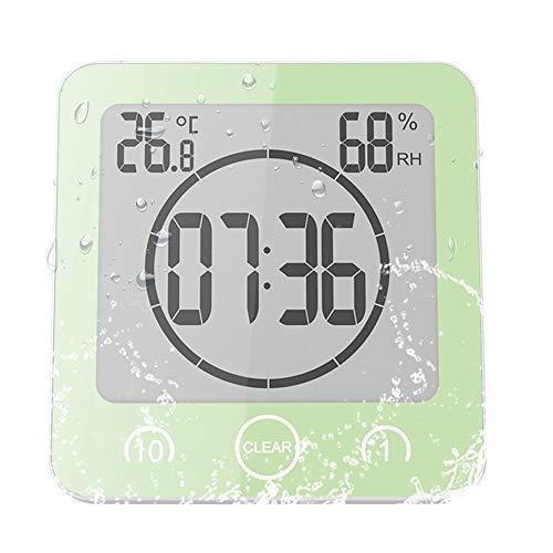 ALLOMN Reloj de Baño, LCD Reloj de Ducha Digital Alarma Impermeable Control...
