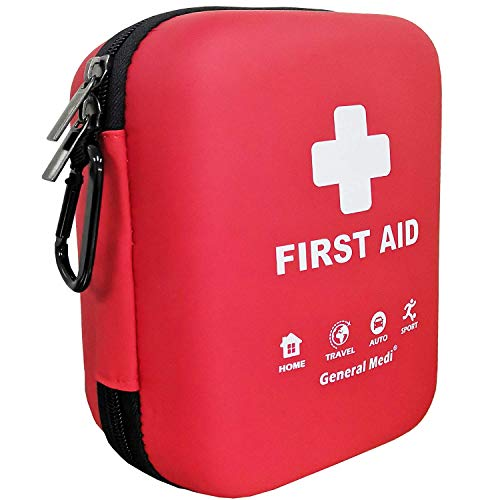 Photo of a red and white colored General Medi 170 Piece First Aid Kit