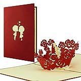 scheda per innamorati I paio bacerai si quando apri la scheda I Pop-Up scheda I San Valentino, L05