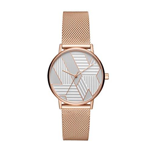 Armani Exchange Reloj Analogico para Mujer de Cuarzo con Correa en Acero Inoxidable AX5550