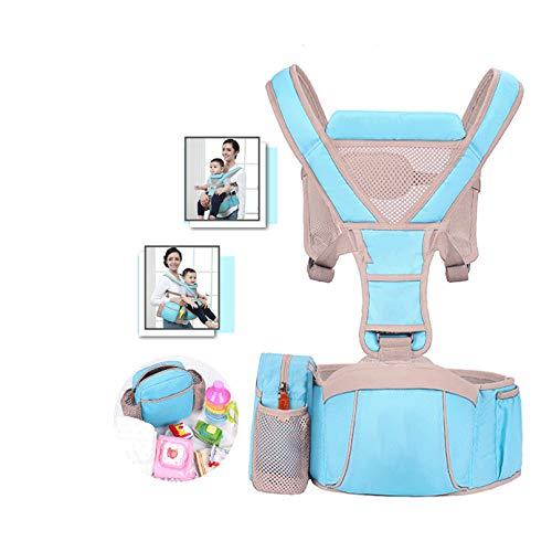 LYXCM Babytrage mit Hüftsitz, Kinderrucksack 3 in1 für Kleinkinder, Babytragetuch Neugeborene, atmungsaktive und weiche Babykette für die ganze Saison