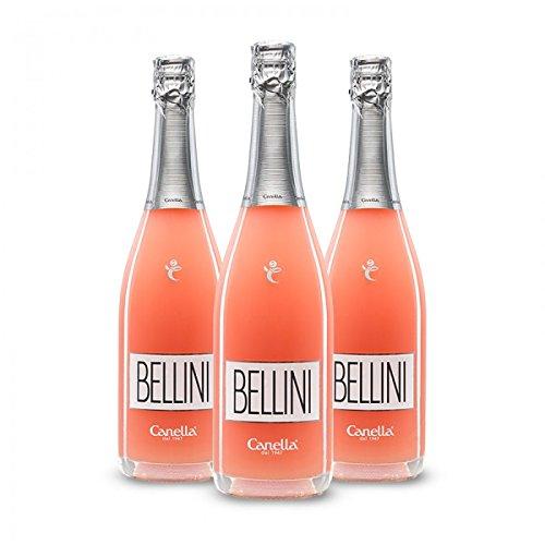 Canella Bellini Cocktail - Bellini Spumante e Pesca Bianca - Aperitivo Veneziano - 3 bt - 75 cl.