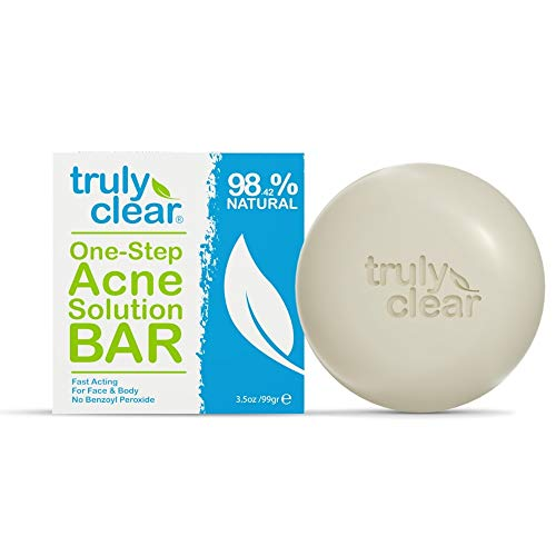 Get Truly Clear skin today in minutes • #1 Acne Bar • Face-Chest-Back Acne, Blemish Acne Treatment 98.42% Natural - Face Wash, Body, Back, Butt Cleanser, Pimple Removal, Cystic Acne, Rosacea, For All Skin Types
