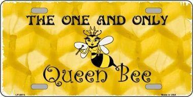Koopje Wereld Koningin Bee Honing Kam Metalen Novelty License Plaat (Met Sticky Notes)