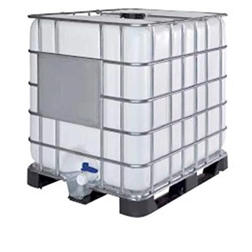 Contenedor depósito de 1000 litros IBC-GRG con palet de plástico