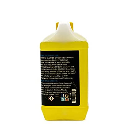 Glimmermann Products Kennel Cleaner and Odour Eliminator Urine Disinfectant Lemon 1.8L 3