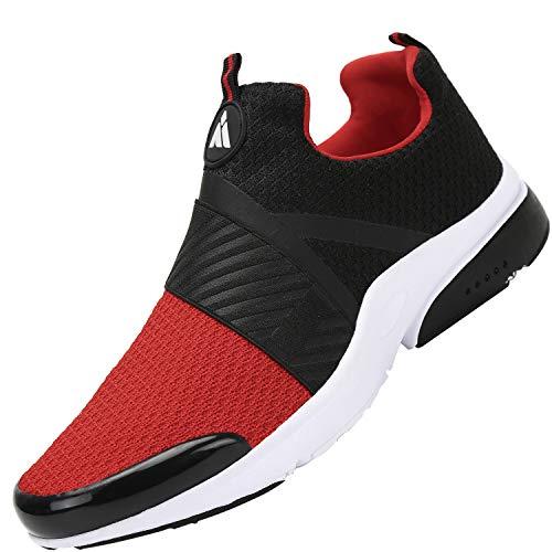 Mishansha Respirant Chaussures de Course Homme Femme Antidérapant Baskets Décontractées Mode Sneakers D'extérieur 2020 Printemps été Classique Poids Léger Mixte Sports Shoes Adulte, Rouge 42